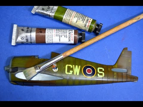 Painting Plastic Models With Brushes - Oil Paints - Great Guide