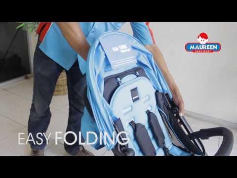 Cara melipat dan membuka stroller Babyelle Zoom S705