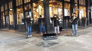 UNO Band Trombone Quartet.