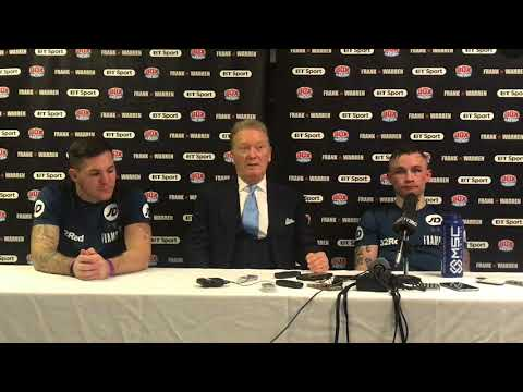 CARL FRAMPTON POST FIGHT PRESS CONFERENCE WITH FRANK WARREN & JAMIE MOORE