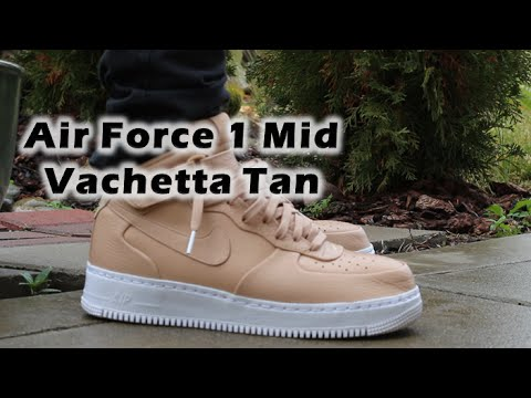 buty nikelab air force 1 mid vachetta tan