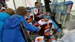 HC Sparta - Liberec 28/12/2017 děkovačka po výhře