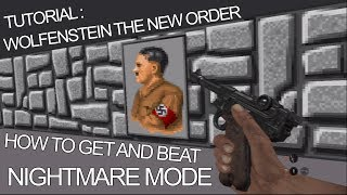 Wolfenstein The New Order Easter Egg How to Play Wolfenstein 3D Classic (Nightmare Mode)