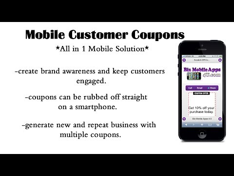 How the Mobile Coupon System Works