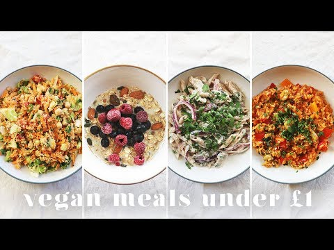 5 VEGAN MEALS UNDER £1($1.50) | Budget-friendly Recipes for Students