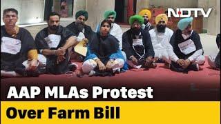 Farm Bills: Punjab Aam Aadmi Party MLAs Spend Night In Assembly Over Farm Bill