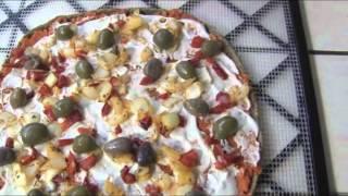 Pizzas vivas crudivegetarianas