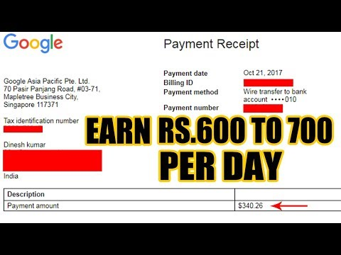 How To Earn Rs.600 To Rs.700 Per Day Through Google Easily