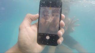 تجربة التصوير بـ ايفون 7 تحت الماء الجوال كان راح ينكسر :( Record Video By IPhone 7 Under water