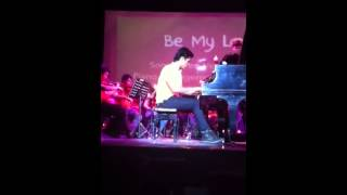 """Xian Lim playing """"Be My Lady"""" at aliw theatre"""
