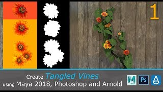 Create Tangled Vines in Maya/Photoshop/Arnold (1/3)
