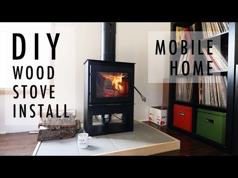 DIY Wood Stove INSTALL In MOBILE HOME