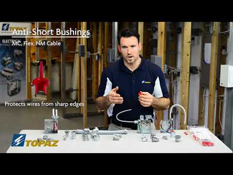 Anti-Short Bushings for BX, Flex, and MC Cable