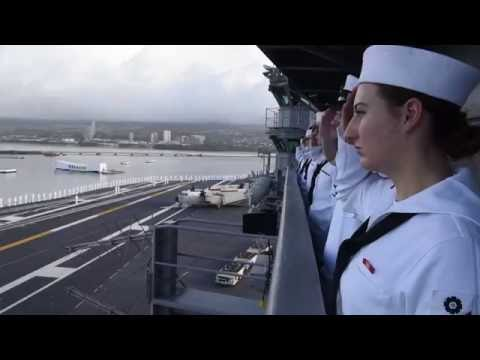 USS John C. Stennis Arrives in Hawaii for 75th Anniversary of Attack on Pearl Harbor and Oahu