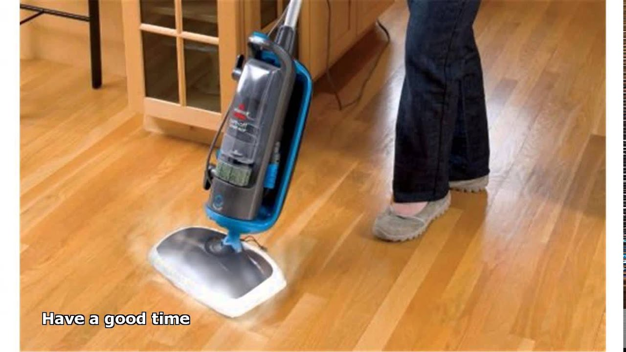Steam cleaning hardwood floors youtube for Wood floor steam cleaner