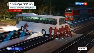 Поезд снёс автобус с нелегалами  во Владимирской обл