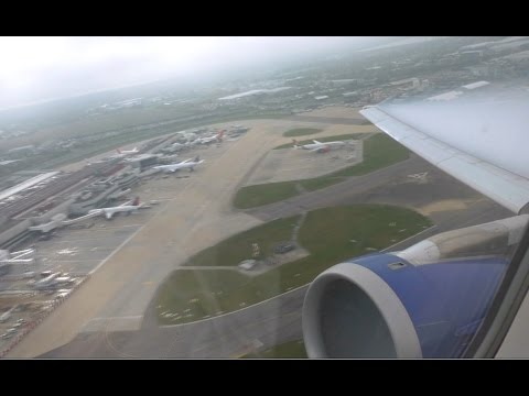 British Airways Airbus A321 - London Heathrow to Glasgow - Takeoff and Landing   BA1482