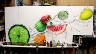 Урок аэрографии по рисованию текстуры фрукта