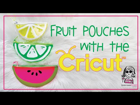 Clear Vinyl Fruit Pouches with Cricut - YouTube