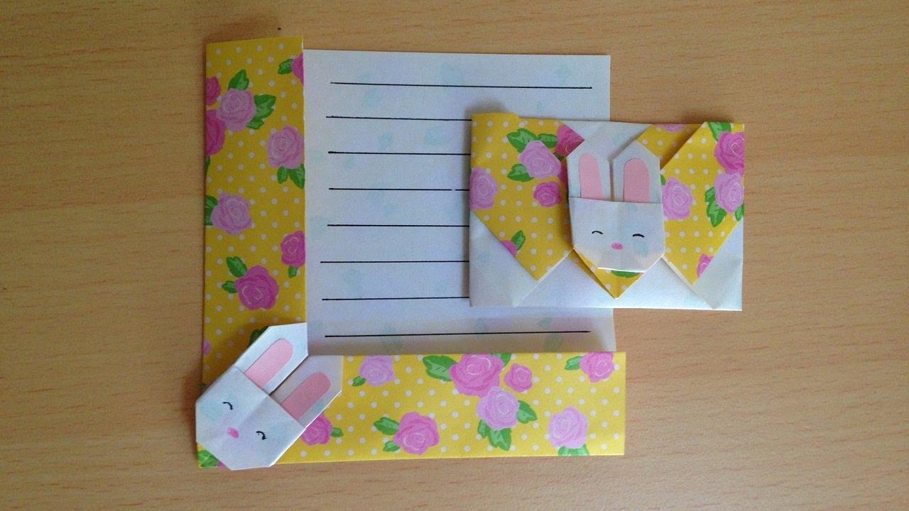 折り紙 ウサギの便箋 簡単な折り方niceno1origami Bunnyrabbit