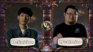 Definition vs. Caimiao - Initial Match - HCT Winter 2019