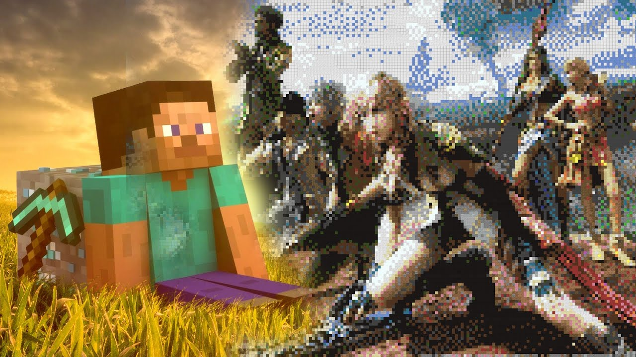 Minecraft Final Fantasy XIII Pixel Art YouTube
