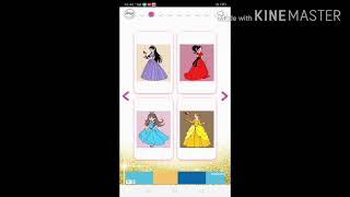 Princess's colouring book glitter play screenshot 1