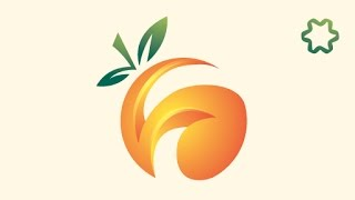 Quick 3D Orange Logo Design Tutorial / Adobe illustrator / Circle Logo Design / Tips Logo Design