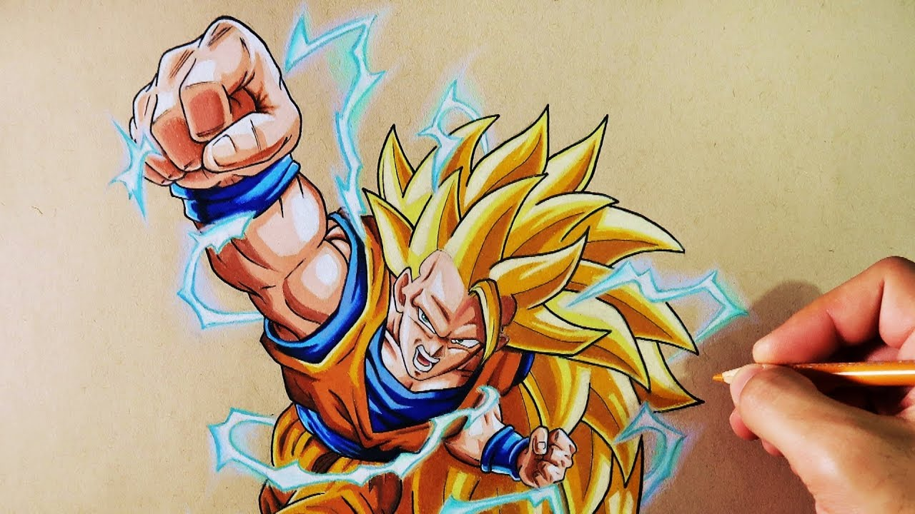 Cmo Dibujar a Goku SSJ3  Dragon Ball Z  How to Draw Goku SSJ3
