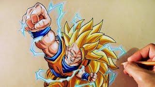 Cómo Dibujar a Goku SSJ3 | Dragon Ball Z | How to Draw Goku SSJ3 | ArteMaster