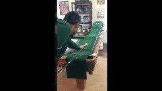 🔥🔥🔥 Level 3 Trick Shot with Pool Cue and Ping Pong Ball!