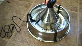 Puutty Power review of the Drinkwell 360° Stainless Steel Fountain