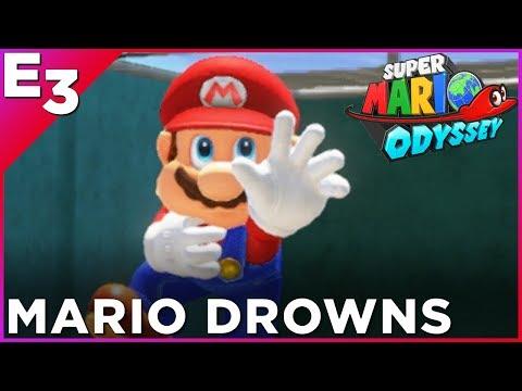 WORLD EXCLUSIVE: Mario Drowns In Super Mario Odyssey —Polygon @ E3 2017