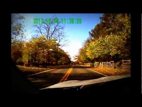 Autumn drive to work in suburban Pittsford NY