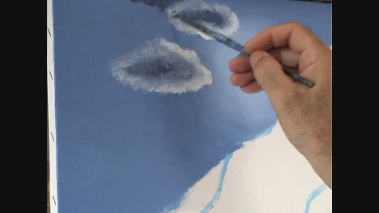 4 hoe maak je een strand berg verf in het maanlicht met acryl op doek youtube - Hoe om te schilderen een trap ...