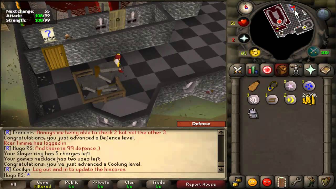 OSRS 99 Attack Strength And Defence