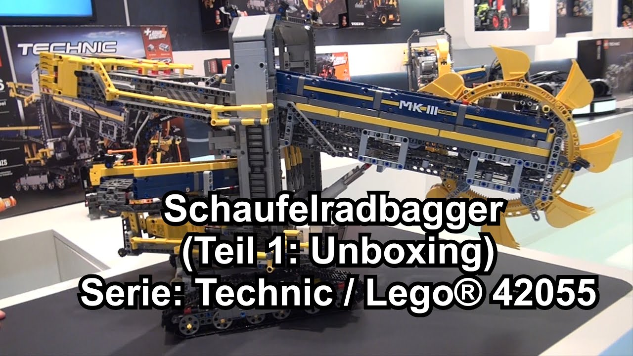 lego schaufelradbagger set 42055 technic review deutsch. Black Bedroom Furniture Sets. Home Design Ideas