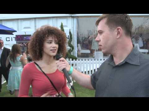Nathalie Emmanuel Interview for iFILM LONDON / DUKE OF ESSEX POLO TROPHY.