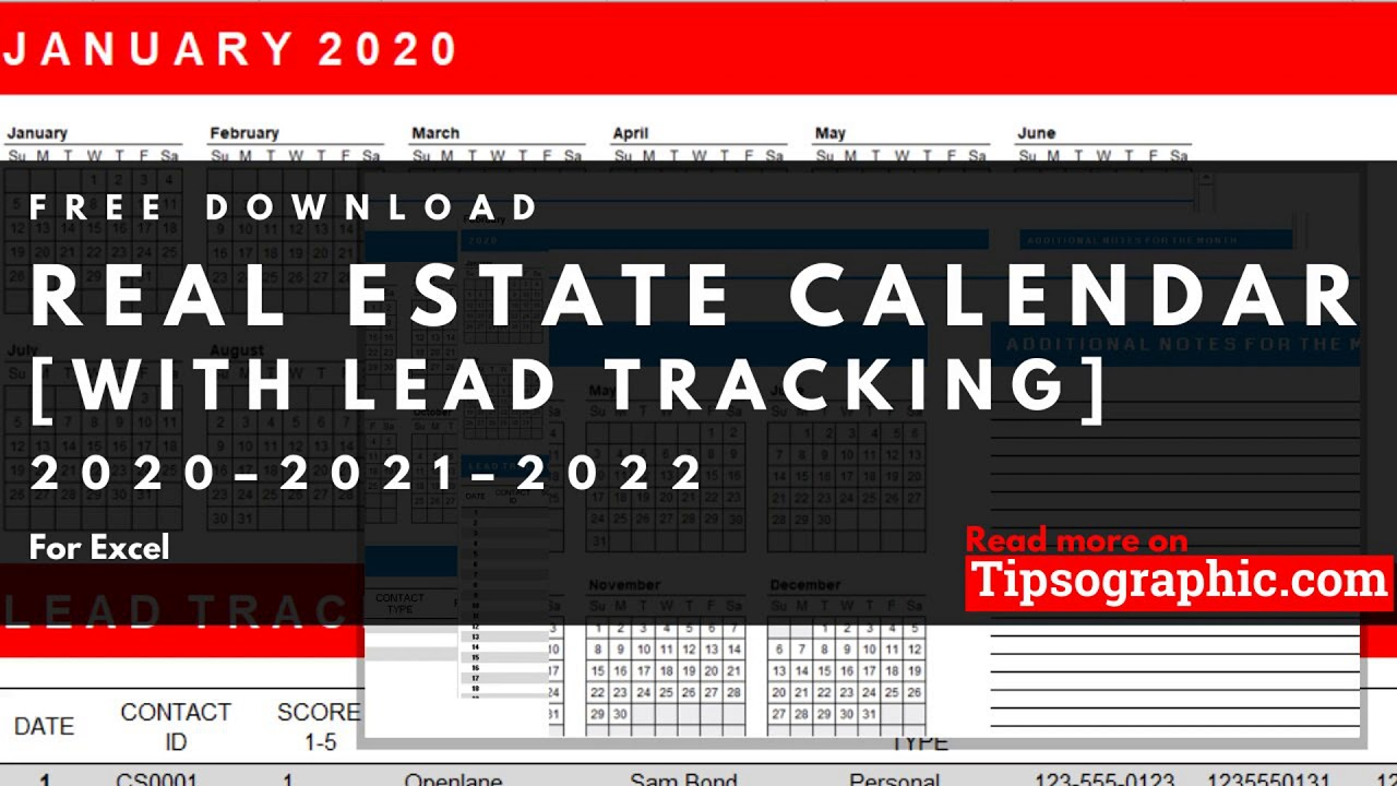 Lead tracking can help ensure that sales teams don't lose track of promising potential customers. Excel 2020 Real Estate Calendar Template With Lead Tracker Free Download Youtube