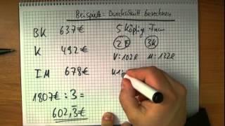Den Durchschnitt berechnen   Beispielaufgaben