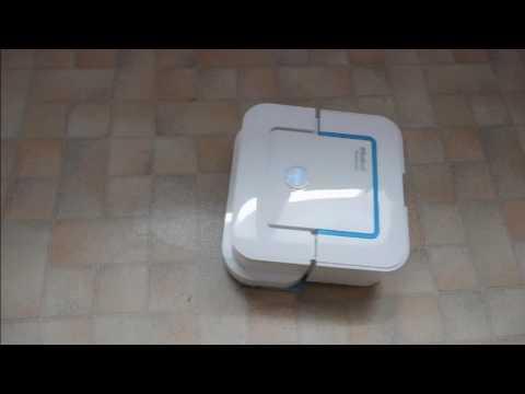 test irobot bjt240 braava jet 240 robot laveur de sol youtube. Black Bedroom Furniture Sets. Home Design Ideas