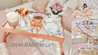 Marble & Copper tray table DIY