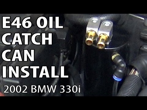 BMW E46 Oil Catch Can Install