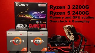Ryzen APUs 2200G and 2400G Gaming Review + Gameplay  (GPU and RAM Frequency scaling)