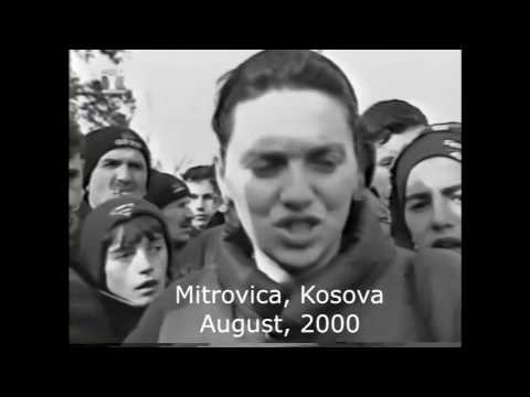 CNN and local footage of military occupation in Mitrovica, Kosova August, 2000