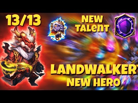 NEW* Hero LandWalker | Silent Cover Talent 9 | Maxed Out | UPDATE Review | CASTLE CLASH