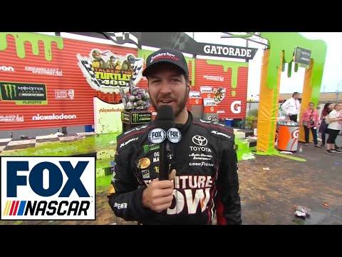 Martin Truex Jr. Post-Race Interview | 2017 CHICAGO | NASCAR VICTORY LANE