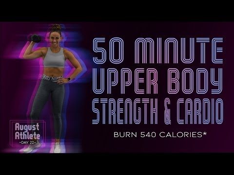 50 Minute Upper Body Strength And Cardio Workout 🔥Burn 540 Calories!* 🔥Sydney Cummings