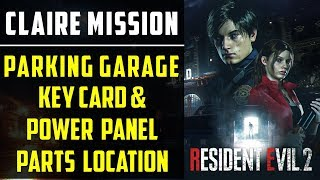Obtain Parking Garage Key Card & Power panel parts | Claire's Playthrough | Resident Evil 2 thumbnail