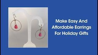 جعل من السهل وبأسعار معقولة أقراط هدايا العيد